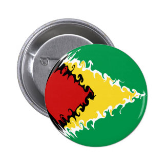 Guyana Gnarly Flag Button