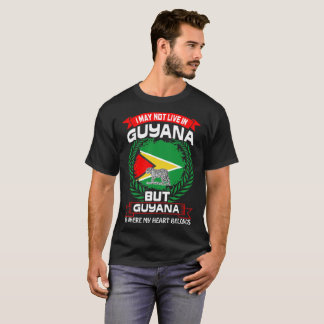 Guyana Is Where My Heart Belongs Tshirt