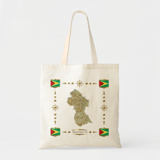 Guyana Map + Flags Bag