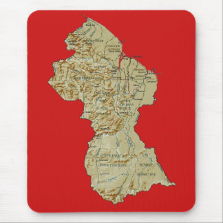 Guyana Map Mousepad