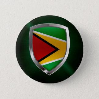 Guyana Mettalic Emblem 2 Inch Round Button