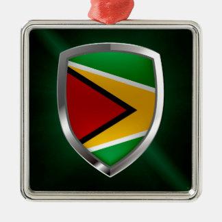 Guyana Mettalic Emblem Metal Ornament