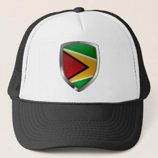 Guyana Mettalic Emblem Trucker Hat