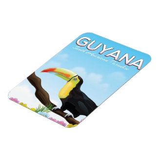 Guyana South american paradise travel poster Magnet