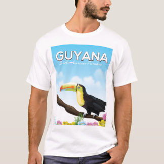 Guyana South american paradise travel poster T-Shirt