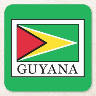 Guyana Square Paper Coaster