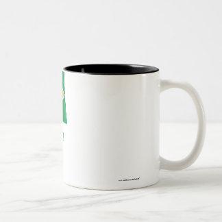 Guyana Waving Flag with Name Two-Tone Coffee Mug