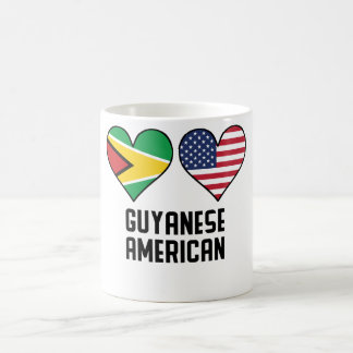 Guyanese American Heart Flags Coffee Mug