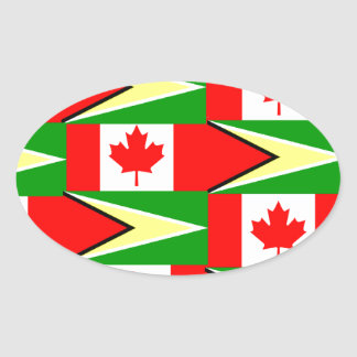 guyanese canadian oval sticker