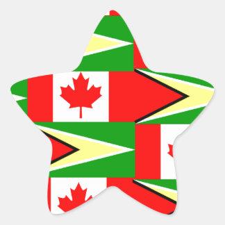 guyanese canadian star sticker