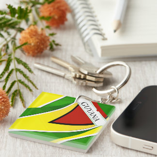 Guyanese Circle (double-sided) keychain fro