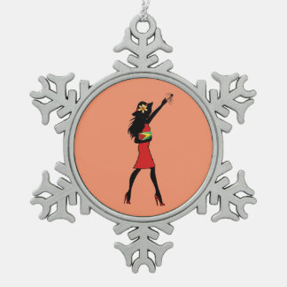 Guyanese Girl Snowflake Ornament