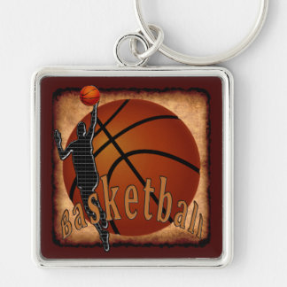 Guys Cool Techno vs Vintage Basketball Keychains