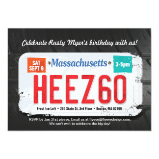 Guy's Massachusett's 60th Birthday Invitation