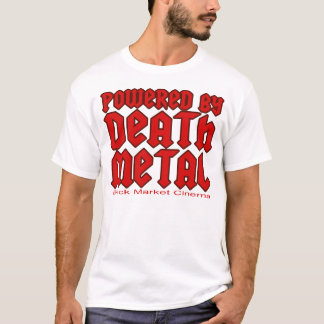 guys mens powered by Death metal music T-Shirt