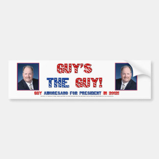Guy's the Guy in 2012 Bumper Sticker