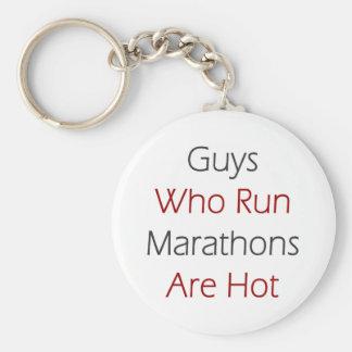 Guys Who Run Marathons Are Hot Keychain