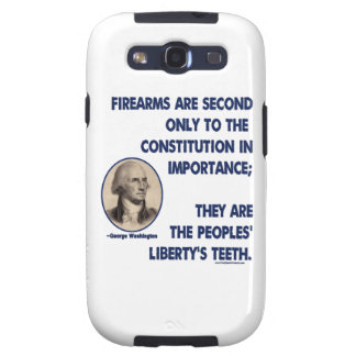 GW - Firearms Second only to the Constitution Galaxy SIII Cases