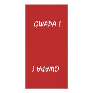 gwapa text Cebuano Filipino Tagalog Card