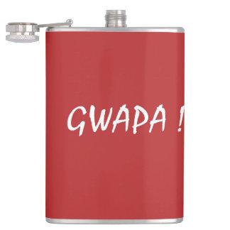 gwapa text Cebuano Filipino Tagalog Hip Flask