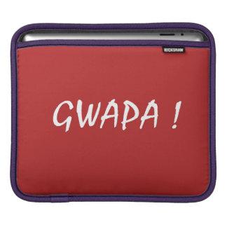 gwapa text Cebuano Filipino Tagalog iPad Sleeve