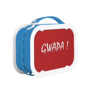 gwapa text Cebuano Filipino Tagalog Lunch Box