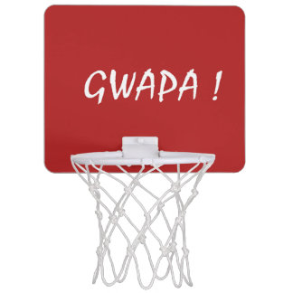 gwapa text Cebuano Filipino Tagalog Mini Basketball Hoop