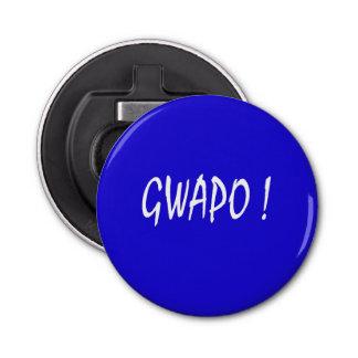 gwapo text handsome Tagalog filipino cebuano Bottle Opener
