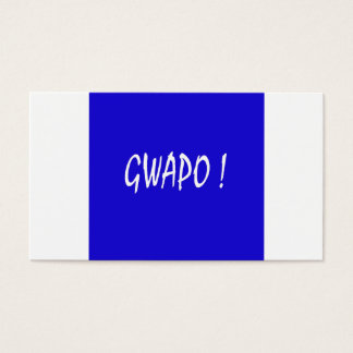 gwapo text handsome Tagalog filipino cebuano Business Card
