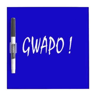 gwapo text handsome Tagalog filipino cebuano Dry Erase Board