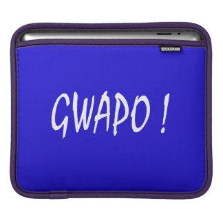 gwapo text handsome Tagalog filipino cebuano iPad Sleeve