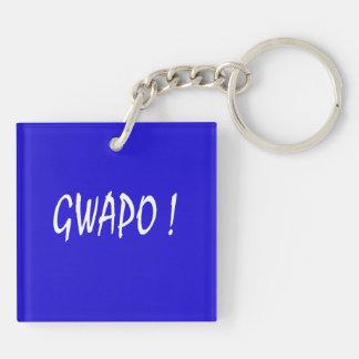 gwapo text handsome Tagalog filipino cebuano Keychain