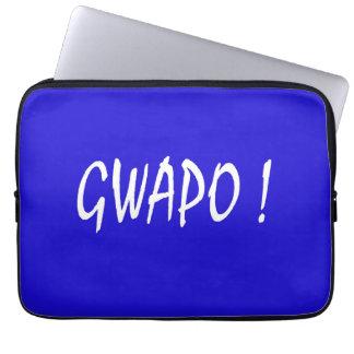 gwapo text handsome Tagalog filipino cebuano Laptop Sleeve