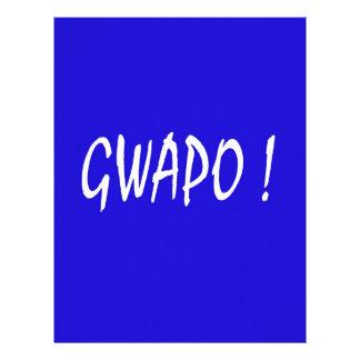 gwapo text handsome Tagalog filipino cebuano Letterhead