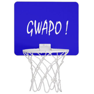 gwapo text handsome Tagalog filipino cebuano Mini Basketball Hoop