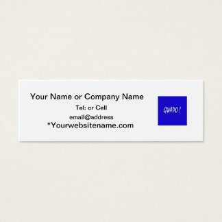 gwapo text handsome Tagalog filipino cebuano Mini Business Card