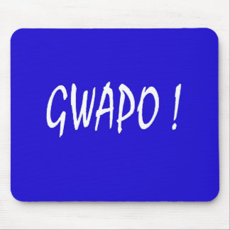 gwapo text handsome Tagalog filipino cebuano Mouse Pad