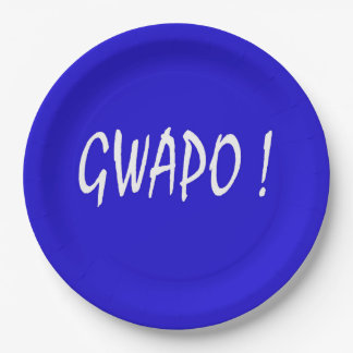 gwapo text handsome Tagalog filipino cebuano Paper Plate