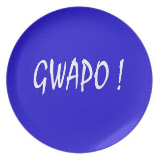 gwapo text handsome Tagalog filipino cebuano Plate