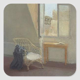 Gwen John- A Corner of the Artist's Room in Paris Square Sticker