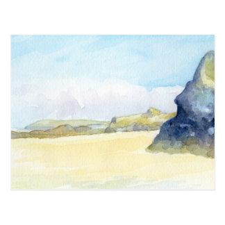 Gwithian beach - Cornwall Postcard