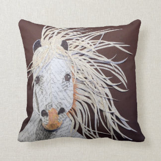 Gwnndelyn, Welsh Pony Collage Pillow