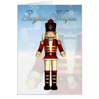 Gwyliau Hapus Happy Holidays - Welsh Card