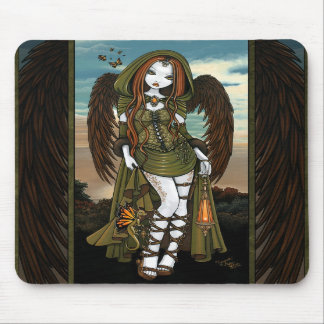 Gwyneth Dragon Huntress Angel Fairy Mousepad