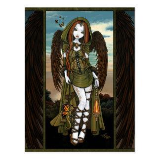 Gwyneth Sunset Dragon Lantern Angel Postcard