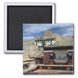 Gyantse rooftop, Tibet, China Magnet