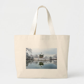 gyeongbok asian palace large tote bag