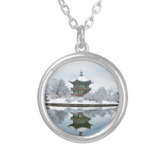 gyeongbok asian palace silver plated necklace