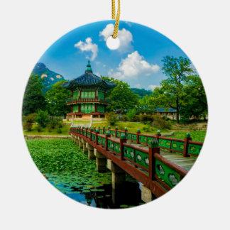 Gyeongbokgung Palace, South Korea Ceramic Ornament