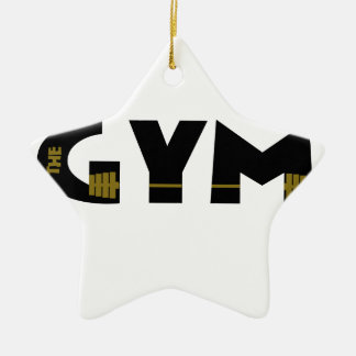 Gym and fitness ceramic star ornament